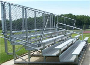 NRS 5 Row DELUXE Galvanized Non-Elevated Bleacher. Free shipping.  Some exclusions apply.