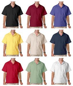 Blue Generation Men's SS Poplin Camp Shirts