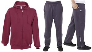Russell Mens Full Zip Hoodie & Pants KIT