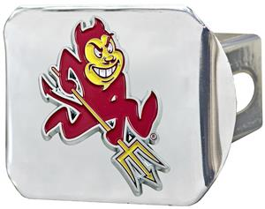 Fan Mats NCAA Arizona St. Chrome/Color Hitch Cover