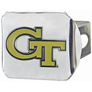 One Sized FANMATS NCAA Georgia Tech Hitch Cover Chrome Chromehitch Cover Team Colors