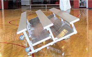 NRS 2 & 3 Row Tip N' Roll Bleachers (72 HOUR FAST SHIP). Free shipping.  Some exclusions apply.