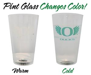 NCAA University of Oregon ThermoC Logo Pint Glass