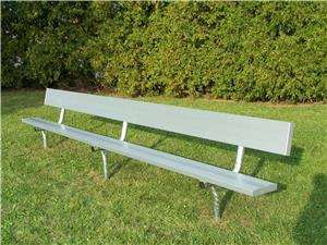 NRS Permanent Aluminum Benches with Backrest. Free shipping.  Some exclusions apply.