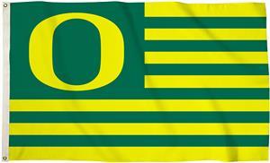 COLLEGIATE Oregon Ducks Stripes 3' x 5' Flag
