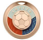"Hasty Award Freedom 3"" Soccer Matte Medal"