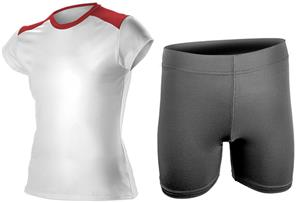 Women Grils Fitted Tee & Compression Shorts Kit