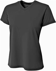 A4 Women's V-Neck Sprint Tee. Printing is available for this item.