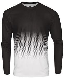 Badger Adult Youth Hex 2.0 Long Sleeve Tee Jersey. Printing is available for this item.