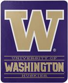 "Northwest NCAA Washington ""Control"" Fleece Throw"