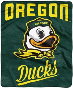 """Northwest NCAA Oregon """"Alumni"""" Raschel Throw"""