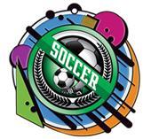 """Hasty 3"""" RAD Medal 2"""" Wreath Mylar Soccer"""