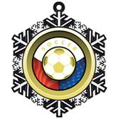"Hasty 3"" Snowflake Medal 2"" Freedom Mylar Soccer"