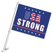 """BSI USA Strong 2-Sided 11"""" x 14"""" Car Flag"""