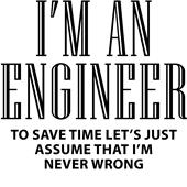 Epic Adult/Youth I'm an Engineer Cotton T-Shirts