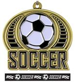 "Epic 2"" Sports Journey Gold Soccer Medal & Ribbon"