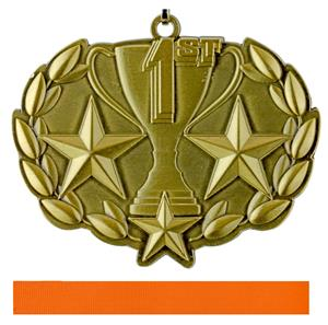 """Epic 1 7/8"""" Trophy Cup Place Medal & Ribbon"""