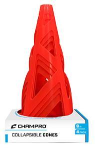 """Collapsible Cones ORANGE 9"""" Set 4 Retail PKG"""