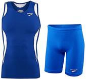 "Brooks Mens Wicking Tank Top 9"" Shorts Kit"