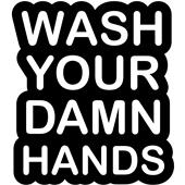 Epic Adult/Youth Wash Damn Hands Cotton T-Shirts