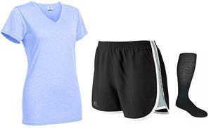 "Ladys Performance Tee 3"" Shorts & Sock KIT"
