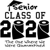 Epic Adult/Youth 2020 Senior #1 Cotton T-Shirts