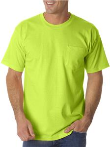 Bayside Adult Pocket T-Shirt BA1725. Decorated in seven days or less.
