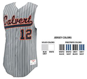 459dab51f5 Pro T3 Sleeveless Solid/Pinstripe Custom Baseball Jerseys - Baseball ...