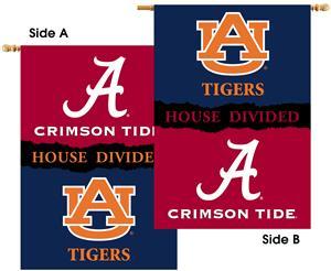 """Alabama - Auburn 2-Sided 28"""" x 40"""" House Divided"""