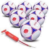 GoSports Premier Soccer Balls 6 PACK Size 3,4,5