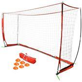 GoSports 12' ELITE Soccer Goal 6 Cones & Carry Bag