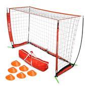 GoSports 6' ELITE Soccer Goal 6 Cones & Carry Bag