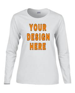 Custom Designed Ladies Long Sleeve T-Shirts. Free shipping.  Some exclusions apply.