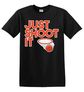 Epic Adult/Youth Just Shoot It Cotton T-Shirts. Free shipping.  Some exclusions apply.