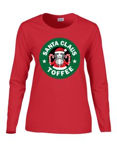 Epic Ladies Santa Toffee Long Sleeve T-Shirts. Free shipping.  Some exclusions apply.
