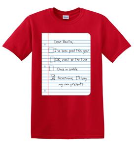 Epic Adult/Youth Dear Santa Cotton T-Shirts. Free shipping.  Some exclusions apply.