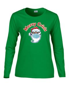 Epic Ladies Merry Crisis Long Sleeve T-Shirts. Free shipping.  Some exclusions apply.