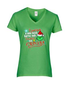 Epic Ladies 100% that Grinch V-Neck T-Shirts. Free shipping.  Some exclusions apply.