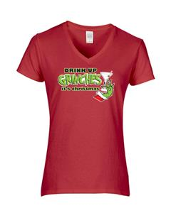 Epic Ladies Drink up Grinches V-Neck T-Shirts. Free shipping.  Some exclusions apply.