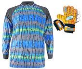 VKM Adult Youth Soccer Goalie Jersey & Gloves KIT