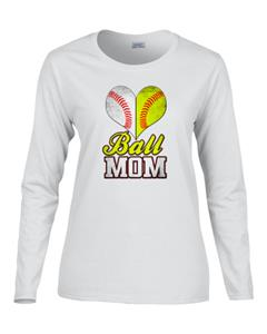 Epic Ladies Ball Mom Long Sleeve Graphic T-Shirts. Free shipping.  Some exclusions apply.