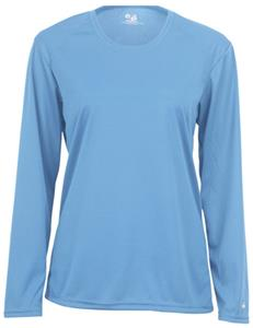 Badger Womens B-Core Long Sleeve Performance Tees. Printing is available for this item.