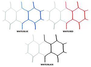 2 Tone Hexagon Soccer Net 8' x 24' x 4' x 10'