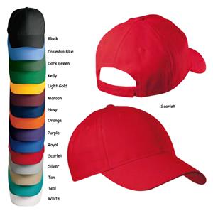 Alleson Cotton Twill 6 Panel Custom Baseball Caps - Soccer Equipment ... fc77eed0cf1