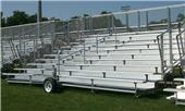 10 Row Transportable Aluminum Bleachers Chain-link Stand,Pref,Deluxe