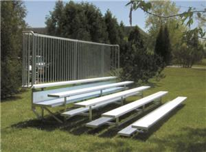 NRS Standard Low Rise 5 Row Bleachers - Single Footboards. Free shipping.  Some exclusions apply.