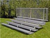 NRS Preferred Low Rise 5 Row Bleachers - Double Footboards