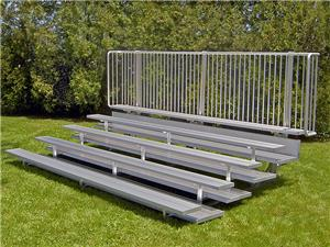 NRS Preferred Low Rise 5 Row Bleachers - Double Footboards. Free shipping.  Some exclusions apply.