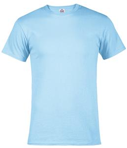 Adult 5.2 oz. Short Sleeve Tee With Rib Collar. Printing is available for this item.