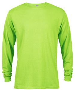 Garnet - Adult 5.2 oz. Long Sleeve Tee With Rib Collar & Cuffs 41748. Printing is available for this item.